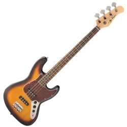 Jay Turser JTB-402-TSB 4-String RH Electric Bass-Tobacco Sunburt