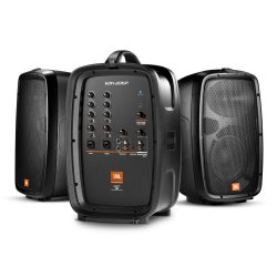 "JBL EON206P Portable 6.5"" Two-Way system with detachable powered mixer"