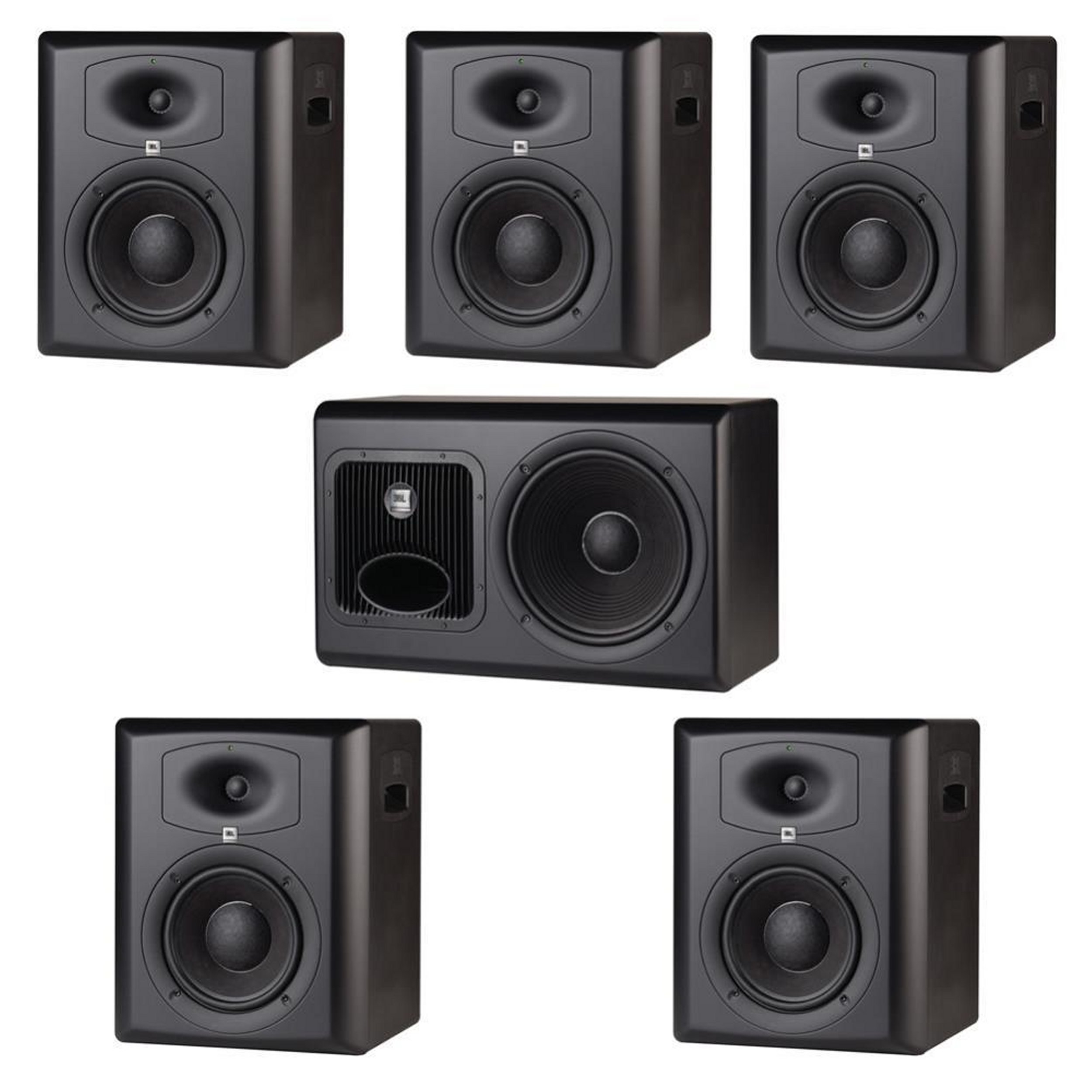 JBL LSR6328P 5.1 Surround System w/ LSR6328P 5pcs & 1pc LSR6312SP & RMC Calibration Kit
