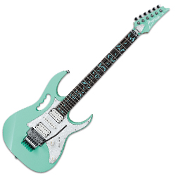 Ibanez JEM70V-SFG Steve Vai Signature 6 String Solid Body Electric Guitar in Sea Foam Green