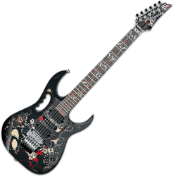 Ibanez JEM77-FP2 Steve Vai Signature 6 String Solid Body Electric Guitar in Floral Pattern 2