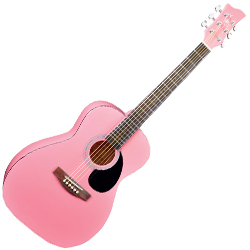 Jay Turser JJ43PK 6 String 3/4 SIZED ACOUSTIC GUITAR in Pink (discontinued clearance)