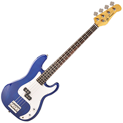 Jay Turser JT400CTBL RH 4 String Electric Bass in Blue Finish (discontinued clearance)