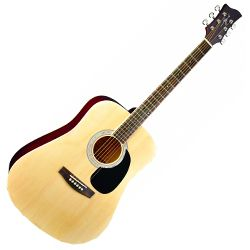 Jay Turser JJ45N 6 String Right Hand Acoustic Guitar with Basswood Body in Natural (discontinued clearance)