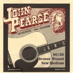 John Pearse 310NM 80/20 Bronze New Medium Acoustic Guitar Strings