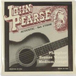 John Pearse 700M Phosphor Bronze Medium Acoustic Guitar Strings