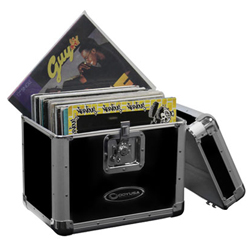 "Odyssey KLP2BLK Stacking Record / Utility Krom Case In Black for 70 12"" Vinyl Records & LPs"