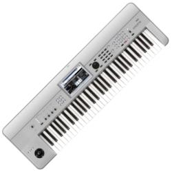 Korg Keyboards KROME-61PT Synthesizer Workstation-Limited Edition Platinum