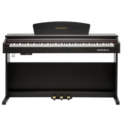 Kurzweil M90-SR 88 Note Digital Piano with Spinet Cabinet-Satin Rose
