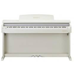 Kurzweil M90-WH 88 Note Digital Piano with Spinet Cabinet-White