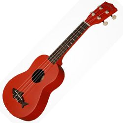 Kala MK-SS/RED Makala Shark Soprano Ukulele in Red Sea