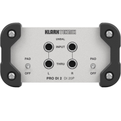 Klark Teknik DI 20P 2-Channel Passive Direct Box w/ MIDAS Transformer