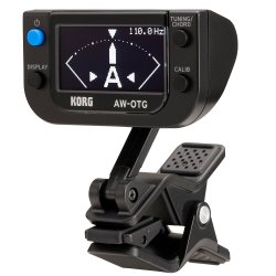 Korg Tuners AWOTG Clip-On Tuner for Guitar w/ OLED Display Technology