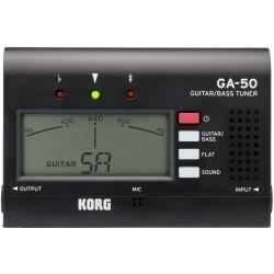 Korg Tuners GA-50 Guitar and Bass Tuner Black