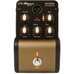 L. R. Baggs LR-SESSIONDI Stomp Box Style D.I. with Notch Control and Compression/Equalizer