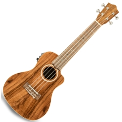 Lanikai ACS-CEC Acacia Electric Concert Ukulele-Natural