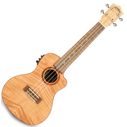 Lanikai FM-CEC Flame Maple Electric Concert Ukulele-Natural