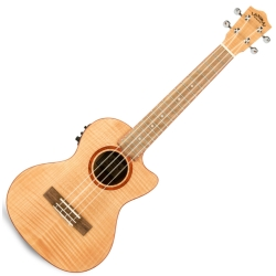 Lanikai FM-CET Flame Maple Electric Tenor Ukulele-Natural