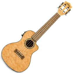 Lanikai QM-NACEC Quilted Maple Electric Concert Ukulele-Natural Stain
