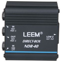 Leem NDR40 Passive Direct Box with Ground Lift & Monitor Loop