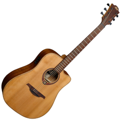 Lag T170DCE Tramontane Cutaway Dreadnought 6 String RH Acoustic Guitar with Pickup