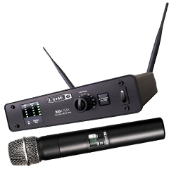 Line 6 L6XDV55 Handheld 12 Channel 300 Foot Digital Wireless Mic System with Aluminum Receiver