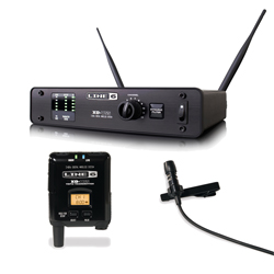 Line 6 L6XDV55L Lavalier 12 Channel 300 Foot Digital Wireless Mic System with Aluminum Receiver