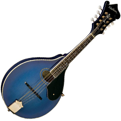Washburn M1SDLBL Bluegrass Series Mandolin in Transparent Blue (discontinued clearance)
