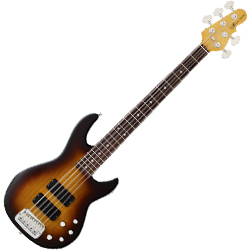 G&L M2500USA 5-string bass M2500 USA series in Tobacco Sunburst**CLEARANCE - FLOOR MODEL with hardshell case**