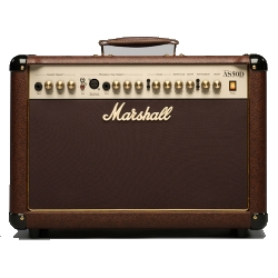 Marshall AS50D 2 Channel 50 Watt Acoustic Guitar Amplifier Combo with Digital Effects in Brown