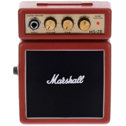 Marshall MS2R 1 Watt Battery-powered Micro Amplifier in Red