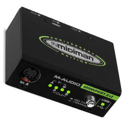 M-Audio Midisport 2x2 Anniversary Edition 2 in 2 Out USB Bus Powered MIDI Interface