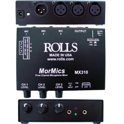 Rolls MX310 3 Channel Mic Mixer/Combiner