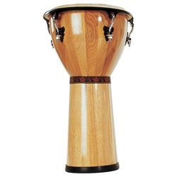 Mano MP1512-SB 12 Inch Djembe with Traditional Rim and Natural Skin Head