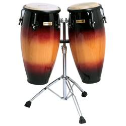 Mano MP1601-SB 10 and 11 Inch Double Conga Set in Sunburst with Stand (discontinued clearance)