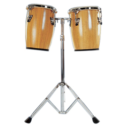 Mano MP1690-NA 9 and 10 Inch Double Mini Conga Set in Natural with Stand