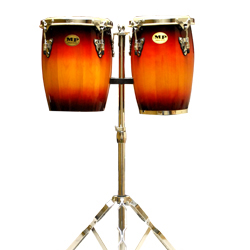 Mano MP1690-SB 9 and 10 Inch Double Mini Conga Set in Sunburst with Stand