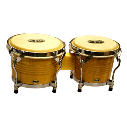 Mano MP1778-NA 7 and 8 inch Bongo Set in Natural with Traditional Rims