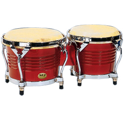 Mano MP1778-RW 7 and 8 inch Bongo Set in Red Wood with Traditional Rims