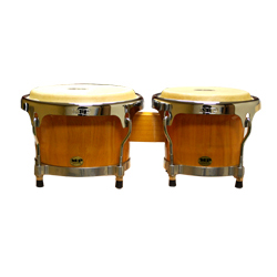 Mano MP1789NS-1NA 8 and 9 Inch Bongo Set in Natural with Traditional Rims