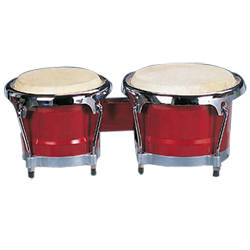 Mano MP1789NS-1RW 8 and 9 Inch Bongo Set in Red Wood with Traditional Rims