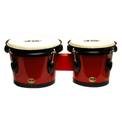 Mano MP715-R 7 and 8 Inch Tunable Bongos in Red