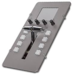 Martin Lighting M-Series Top Transition Module Lighting Console Top with Split T-Bar and 8 RGB Push Buttons