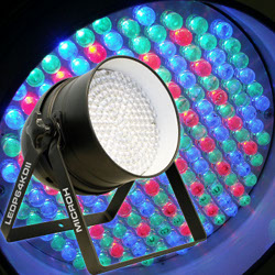 Microh LEDP64KDII RGB LED Par 64 Colour Wash (Black)