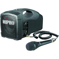 MIPRO MA-101C MM-107 - Portable Rechargeable Battery Operated PA System With MM-107 Dynamic Microphone and 6' Cord (45-Watt)