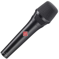 Neumann KMS 104 PLUS BK Handheld Condenser Microphone with Extended Bass Response-Black