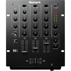Numark M4BLACK Three-Channel DJ Mixer with 3-Band EQ