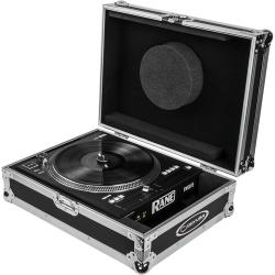 Odyssey FZRane12 Flight Zone Rane Twelve Motorized Turntable DJ Battle Controller Case-Silver and Black