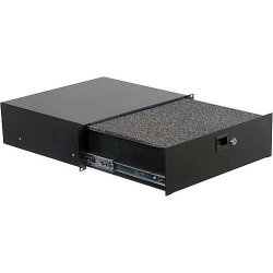 Odyssey ADFRD03 3 Space Diced Foam Pro Rack Drawer Accessory with Lock