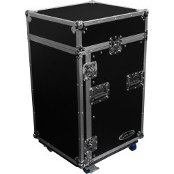 Odyssey Cases FR1014W - Combo Rack Flight Case with Wheels